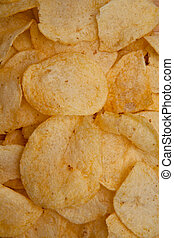 Chips laid out together