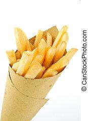 chips, loin, prendre