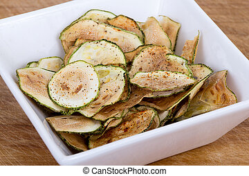 chips, mince, courgette
