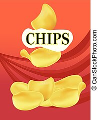 Chips package design, vector