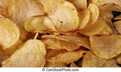 Chips potato chip salty fried unhealthy snack.