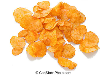 Chips - Potato chips isolated on white