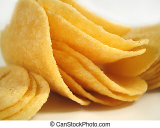 chips - close up of potato chips