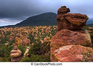 Chiricahua Mountains - Stormy weather in Chiricahua National...