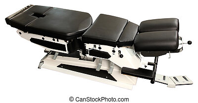 chiropractic bench isolated on white