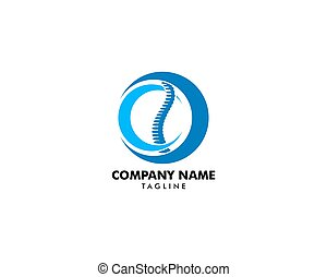 Chiropractic Concept Logo Design Template