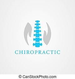 Chiropractic icon logo vector design