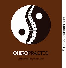 Chiropractic, manual therapy banner - Illustration of yin...