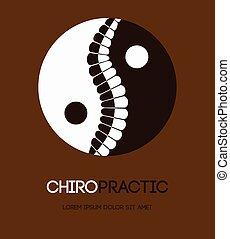 Illustration of yin and yang spine symbol