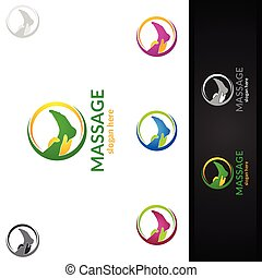 Chiropractic, massage, back pain and osteopathy Logo Design