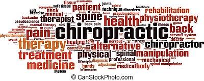 chiropractic, palavra, cloud.eps