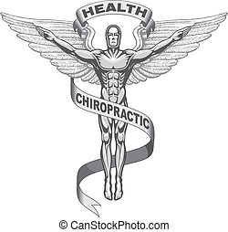 Illustration of a chiropractors symbol.