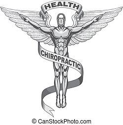 Chiropractic Symbol - Illustration of a chiropractors...