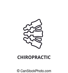 chiropractic thin line icon, sign, symbol, illustation, linear concept, vector