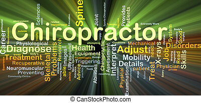 Chiropractor background concept glowing - Background concept...