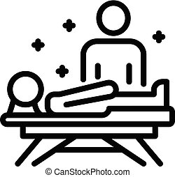 Chiropractor icon, outline style