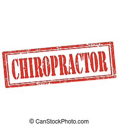 Grunge rubber stamp with text Chiropractor, vector illustration