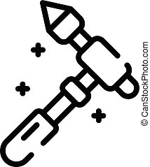 Chiropractor tool icon, outline style