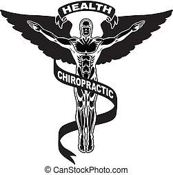 chiropraktijk, symbool, ii