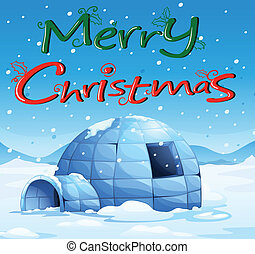 Chirstmas greeting - Illustration of a christmas card