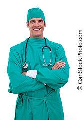 chirurg, charismatic, verticaal