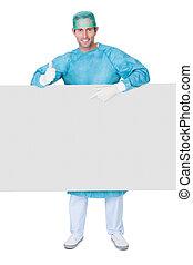 chirurg, mannelijke , schrobt, uniform