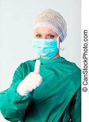 chirurg, osoba, samičí, ohnisko