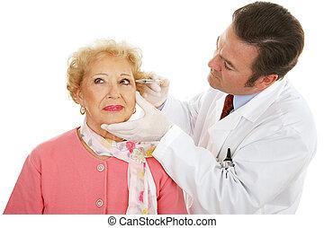 chirurg, werken, schoonheidsmiddel