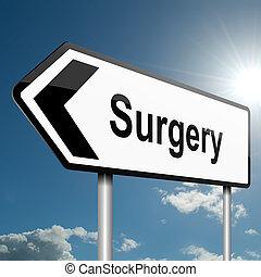 chirurgia, concept.