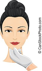 chirurgia, valutazione, cosmetico