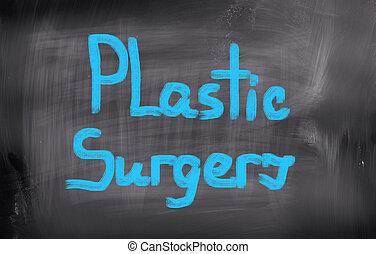 chirurgie, concept, plastique