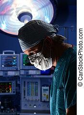 chirurgien, faire, opération