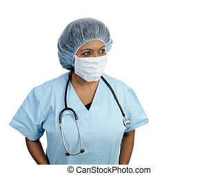 chirurgisch, blues, vrijstaand