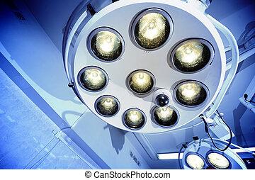 chirurgisch, lampen, kamer, operatie