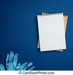 chirurgisch, notizblock, medizin, gloves.