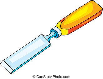 Chisel  - Vector illustration of chisel on white background