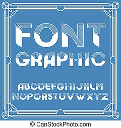 Chiseled Alphabet Vector Font. Typographic design set .