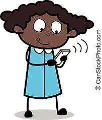 chit-chat, escritório, -, ilustração, vetorial, pretas, ...