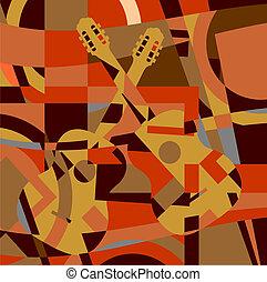chitarra, astratto