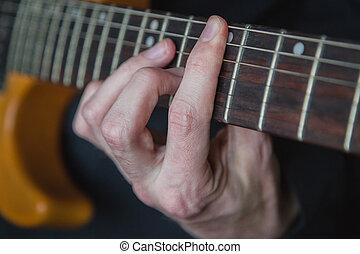 chitarra, attivo, gioco