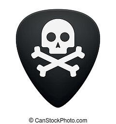 chitarra, cranio, cogliere