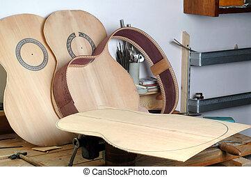 chitarra, dettagli, classico