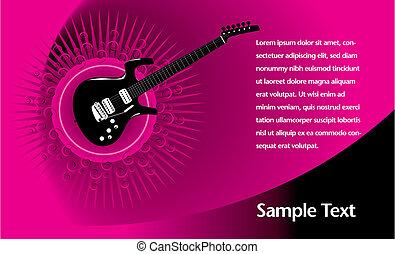 chitarra, disposizione, pagina