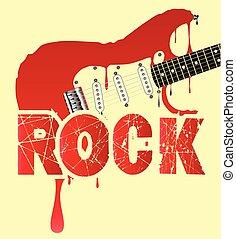 chitarra, fusione, elettrico, roccia