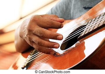 chitarra gioca, uomo