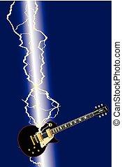 chitarra, lampo