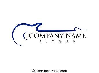 chitarra, logotipo, musica