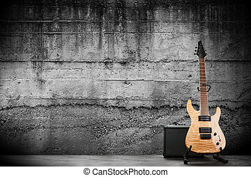 chitarra, moderno, elettrico