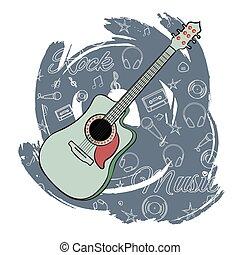 chitarra, music-02, roccia