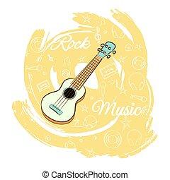 chitarra, music-04, roccia